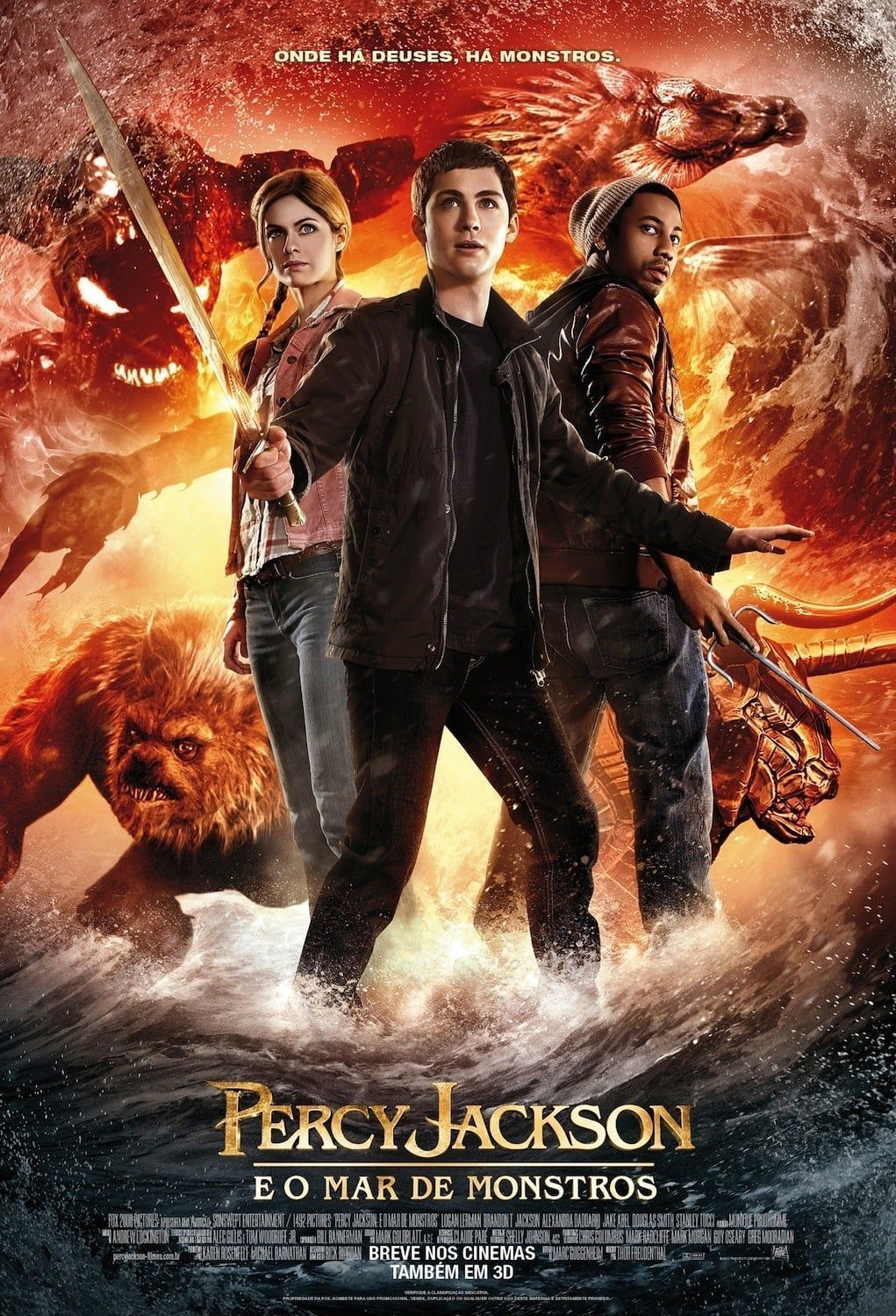 Percy Jackson e o Mar de Monstros Dublado HD